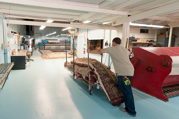Your rug is cared for in our own local facility by skilled artisans.