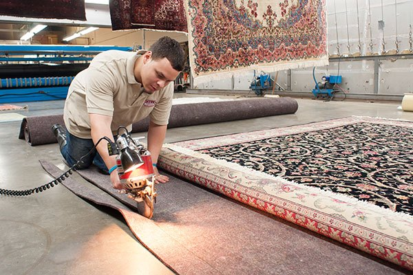 Padding is custom cut to fit your rug.