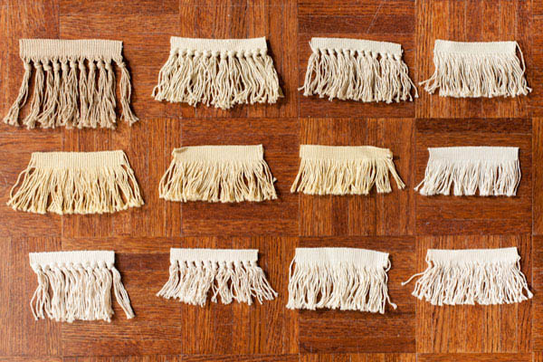 In stock ready- made fringes for cost effective repairs.