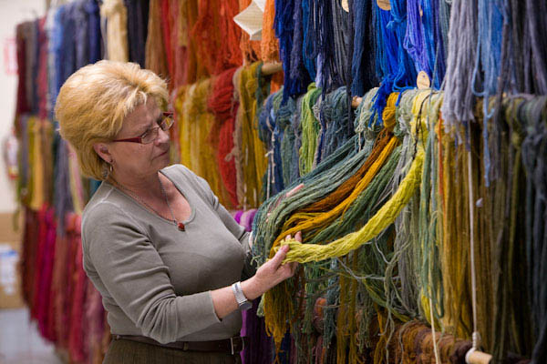 Our vast collection of wools for matching original colors.